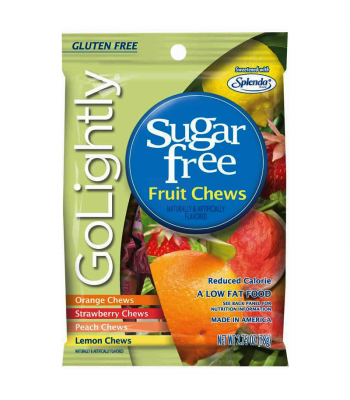 GoLightly Sugar Free Fruit Chews 2.75oz (78g) Sweets and Candy