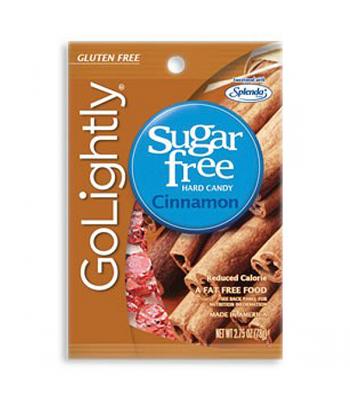GoLightly Sugar Free Cinnamon Candy 2.75oz (78g) Sugar Free
