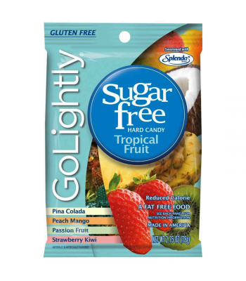 GoLightly - Tropical Fruit Sugar Free Candy - 2.75oz (78g) Sugar Free