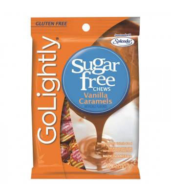 GoLightly - Vanilla Caramels Sugar Free Chews - 2.75oz (78g) Sweets and Candy