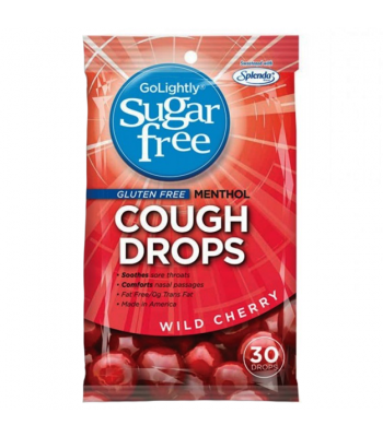 GoLightly Sugar Free Wild Cherry Cough Drops Sweets and Candy
