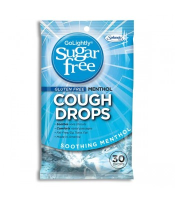 GoLightly Sugar Free Soothing Menthol Cough Drops 2.75oz (78g) Sweets and Candy