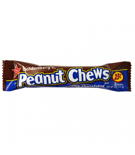 Goldenberg's Peanut Chews Milk Chocolatey 0.6oz (17g) Sweets and Candy