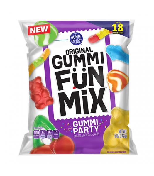 The Gummi Factory Gummi Fun Mix Gummi Party 5oz (142g) Sweets and Candy