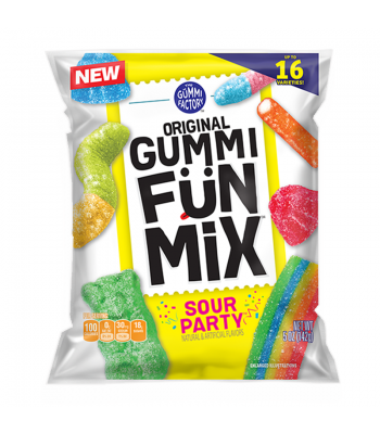 The Gummi Factory Gummi Fun Mix Sour Party 5oz (142g) Sweets and Candy