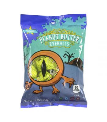 Atkinson Halloween Peanut Butter Eyeballs Peg Bag - 4oz (113g) Sweets and Candy