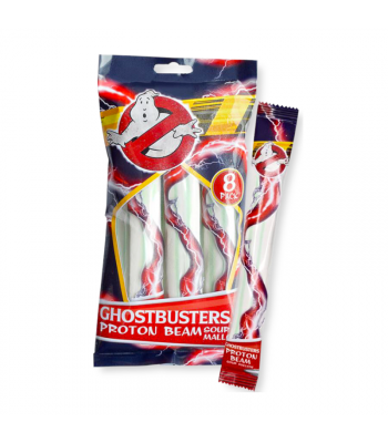 Ghostbusters Proton Beam Strawberry Mallow Strips (80g) Sweets and Candy Rose Marketing