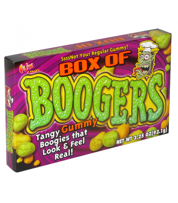 Flix - Box of Boogers Theatre Box 3.25oz (92.1g) [ Halloween Limited Edition ] Fall & Halloween Candy 2017 Flix