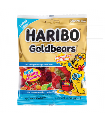 HARIBO Summer-Edition Goldbears - 4oz (113g) Sweets and Candy Haribo