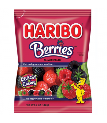 Haribo Berries Peg Bag 5oz (142g) Sweets and Candy Haribo
