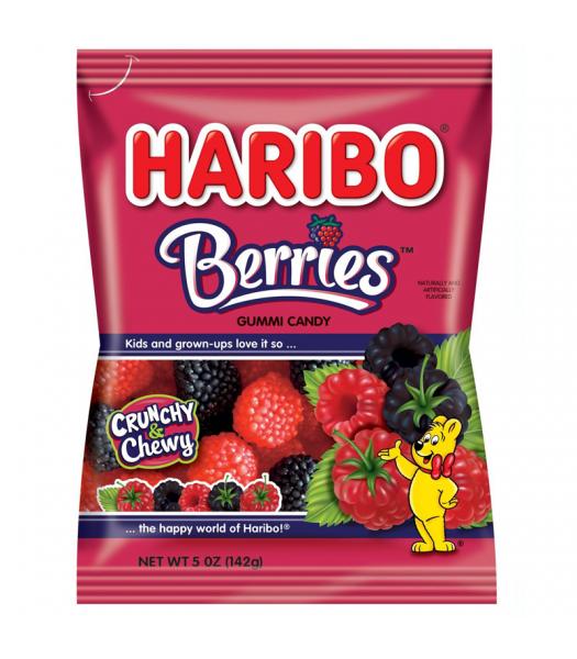 Haribo Berries Peg Bag 5oz (142g) Sweets and Candy Haribo