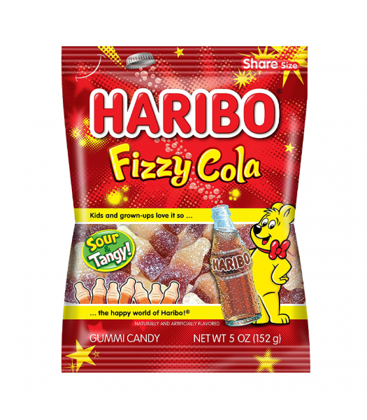 Haribo - Fizzy Cola Bottles - 5oz (141g) Sweets and Candy Haribo