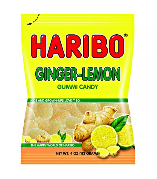 Haribo Ginger-Lemon Peg Bag 4oz (113g) Sweets and Candy Haribo