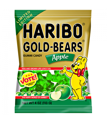 Haribo Gold-Bears - Apple - 4oz (113g) Soft Candy