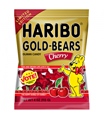 Haribo Gold-Bears - Cherry - 4oz (113g) Soft Candy