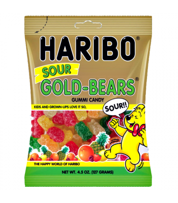 Haribo Gold-Bears - Sour - 4.5oz (127g) Soft Candy Haribo
