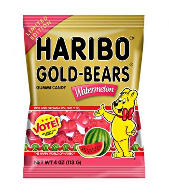 Haribo Gold-Bears - Watermelon - 4oz (113g) Soft Candy