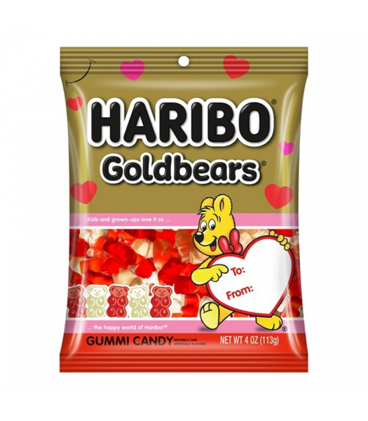 Haribo Valentine Gold-Bears - 4oz (113g) Sweets and Candy Haribo