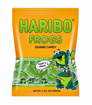 Haribo Green Frogs Peg Bag 5oz (142g) Sweets and Candy Haribo