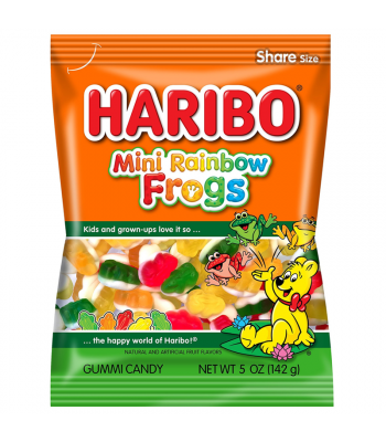 Haribo Mini Rainbow Frogs Peg Bag 5oz (142g) Sweets and Candy Haribo