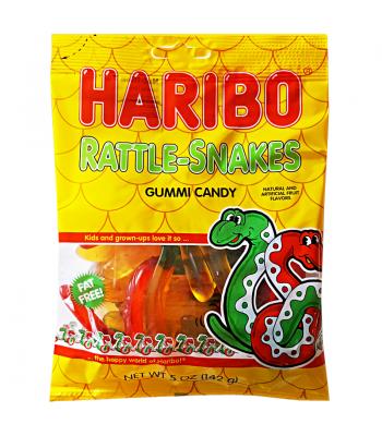 Haribo Rattle Snakes Peg Bag 5oz (142g) Soft Candy
