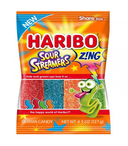 Haribo Sour Streamers Peg Bag - 4.5oz (127g) Sweets and Candy Haribo