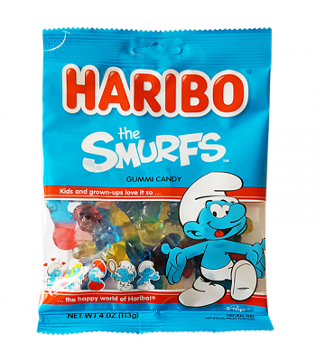 Haribo Smurfs Peg Bag 4oz (113g) Soft Candy