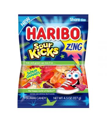 Haribo Z!NG Sour Kicks Peg Bag - 4.5oz (127g) Sweets and Candy Haribo