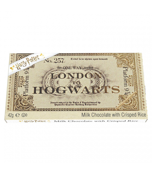Harry Potter Hogwarts Express Milk Chocolate Ticket - 42g Sweets and Candy Harry Potter