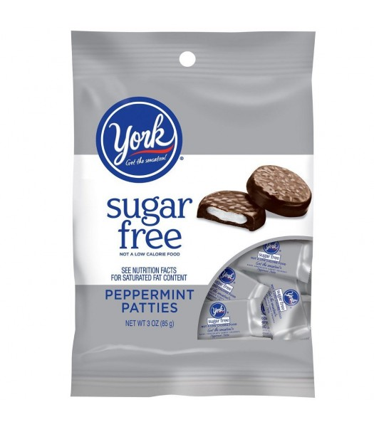 York SUGAR FREE Peppermint Patties Peg Bag 3oz (85g) Chocolate, Bars & Treats York
