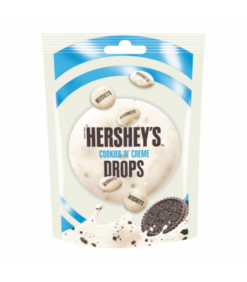 Hershey's Cookies 'N' Creme Drops Pouch - 80g Sweets and Candy Hershey's