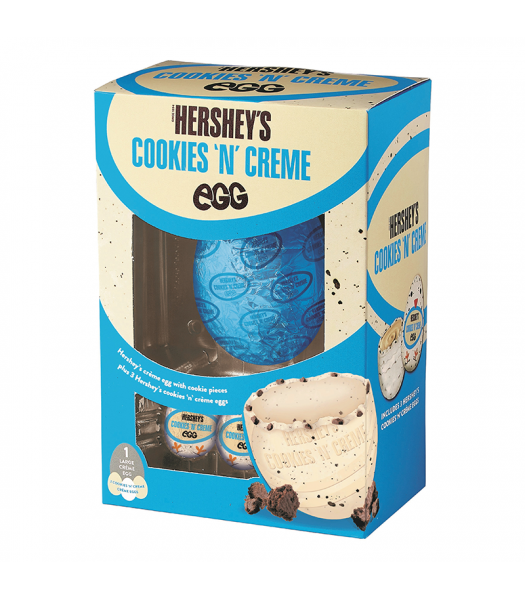 Hershey's Cookies 'N' Creme Large Easter Egg - 257g Sweets and Candy Hershey's