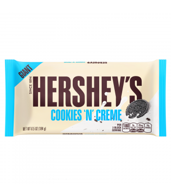 Hershey's GIANT Cookies and Creme Chocolate Bar 6.5oz (184g) Chocolate, Bars & Treats Hershey's