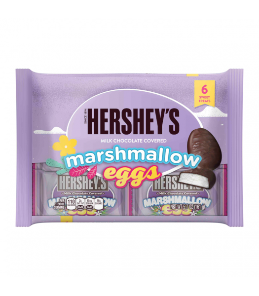 Hershey Milk Chocolate Covered Marshmallow Eggs 6pk - 5.7oz (161g) Sweets and Candy Hershey's