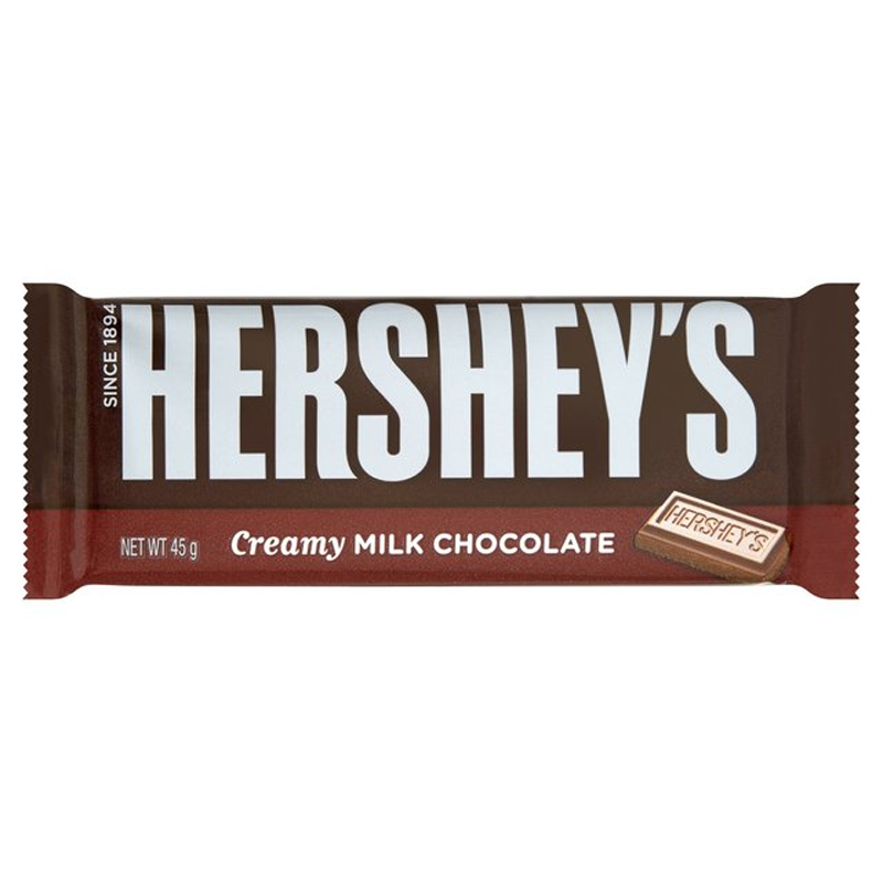 Hershey S Creamy Milk Chocolate Bar 45g
