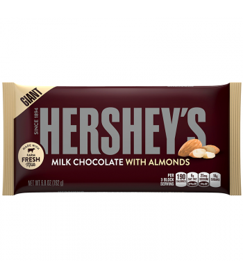Hershey's Giant Milk Chocolate w/ Almonds Bar 6.8oz (192g) Chocolate, Bars & Treats Hershey's