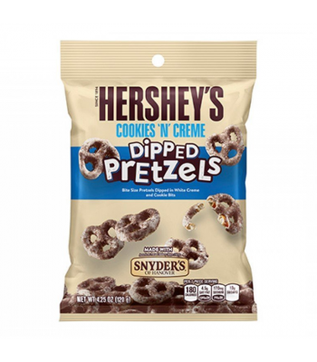 Hershey's - Cookies N Creme Dipped Pretzels - 4.25oz (120g) Snacks and Chips Hershey's