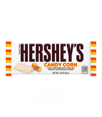[Halloween] Hershey's White Chocolate Candy Corn Bar 1.55oz (43g) [LIMITED EDITION] Chocolate, Bars & Treats Hershey's