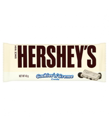 Hershey's Cookies & Cream 43g Chocolate, Bars & Treats Hershey's
