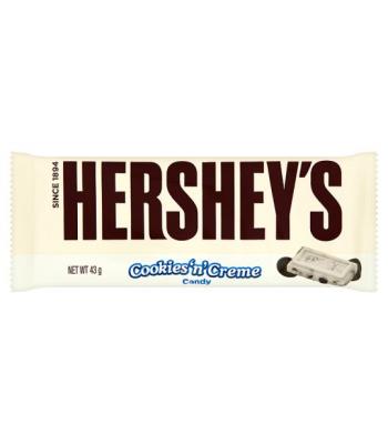 Hershey's Cookies & Cream 43g Chocolate, Bars & Treats Hershey's