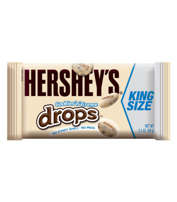 Hershey's Cookies N Creme Drops King Size 2.1oz (60g) Chocolate, Bars & Treats Hershey's