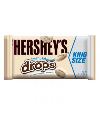 Hershey's Cookies N Creme Drops King Size 2.1oz (60g) Chocolate, Bars & Treats Hershey's