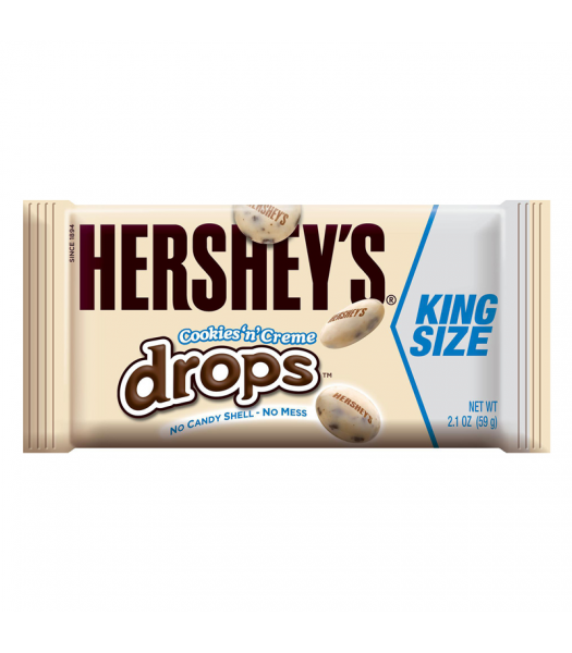 Hershey's Cookies N Creme Drops King Size 2.1oz (60g) Sweets and Candy Hershey's