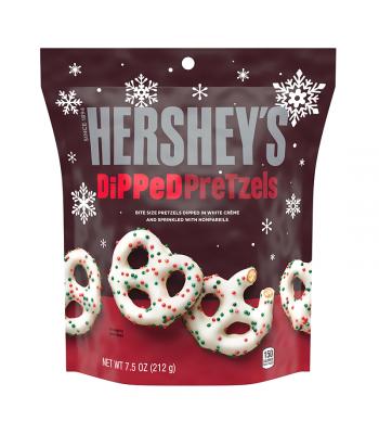 Hershey's White Crème Dipped Pretzels w/ Sprinkles - 7.5oz (212g) [Christmas] Snacks and Chips Hershey's