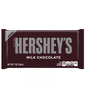 Hershey's Milk Chocolate Giant Bar 7oz (198g) Chocolate, Bars & Treats Hershey's
