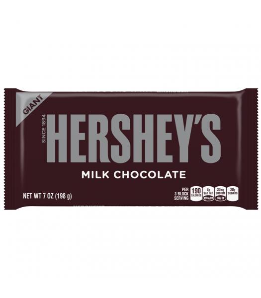 Hershey's Milk Chocolate Giant Bar 7oz (198g) Chocolate, Bars & Treats Hershey's