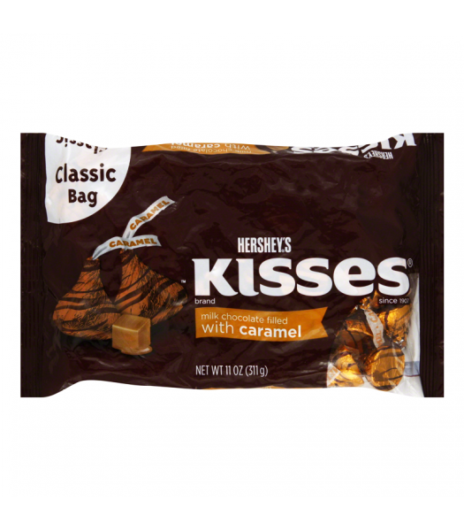 Hershey's Kisses - Milk Chocolate Filled With Caramel - 11oz (311g) Sweets and Candy Hershey's