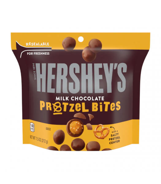Hershey's Milk Chocolate Pretzel Bites Pouch - 7.5oz (212g) Sweets and Candy Hershey's
