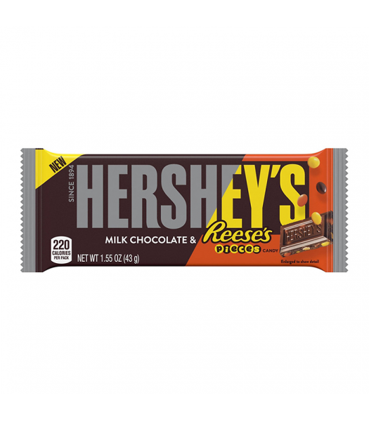 Hershey's Milk Chocolate with Reese's Pieces - 1.55oz (43g) Sweets and Candy Hershey's