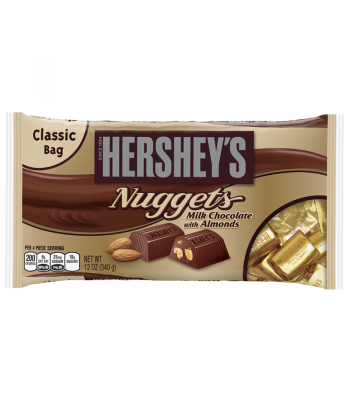 Hersheys Milk Chocolate Almond Nuggets 12oz (340g) Chocolate, Bars & Treats Hershey's